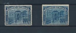 148 + 148A Postfris , Met Bruine Gom ( Z110 ) - 1915-1920 Albert I