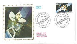 FDC Satellite Telecom 1 (75 Paris 01/09/1984) - FDC