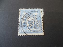 SAGE  N° 79      25 Cts  Oblitere  VANNES 1877 - 1876-1898 Sage (Type II)