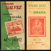 (1950ca). Conjunto De Cinco Catálogos Antiguos GALVEZ ESPAÑA 1950 Y 1955, RICARDO DE LAMA ALEMANIA (1956) Y FRANCIA (196 - Spain