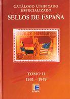 2009. Conjunto De Cuatro Catálogos EDIFIL ESPECIALIZADOS (serie Roja), Tomos I, II, III Y IV. Edifil, 2009-2010. (en Per - Spain