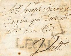 Sobre . 1788. ASTORGA A VALLADOLID. Marca LEON, En Negro-azulado De Astorga (P.E.4) Edición 2004. MAGNIFICA Y MUY RARA. - Spain