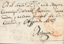 Sobre . (1827CA). BENAVENTE (LEON) A ASTORGA. Marca Cª Vª / BENEV. TE (P.E.6) Edición 2004. MAGNIFICA Y RARISIMA. - Spain
