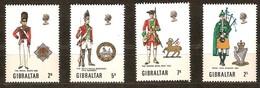 Gibraltar 1970 Yvertn° 232-235 *** MNH Cote 5 Euro Uniformes Mililtaires - Gibraltar