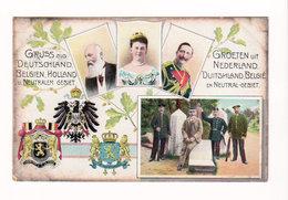CPA Gruss Aus Deutschland Belgien Holland / Groeten Uit Nederland Duitschland Belgie Neutral Gebiet, Circulée En 1908 - Plombières