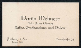 B9904 - Martin Mehnert - Visitenkarte -  Kaffe Großhandel Rösterei Freiberg - Visitenkarten