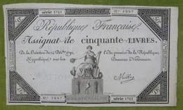 Bel Assignat 50 Livres émission Du 14 Décembre 1792 Cf Lafaurie N°164 Signé MILLE - Assignats & Mandats Territoriaux