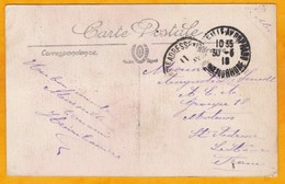 1918 - CP De Marseille, France à M. De Smedt, Sainte Adresse  ACA Groupe 18 En Franchise Militaire - 1. Weltkrieg 1914-1918