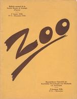 ZOO - Koninlijke Maatschappij Voor Dierkunde Van Antwerpen - N° 8 December 1936 - Animaux