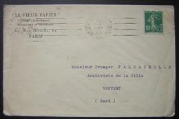 1925 Le Vieux Papier Société Archéologique Historique Et Artistique 62 Rue Blanche Paris - Poststempel (Briefe)