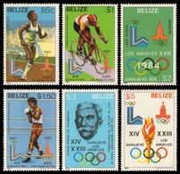 Belize 1981 - Mi-Nr. 563-568 ** - MNH - Olympia Los Angeles - Belize (1973-...)