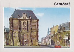 59 CAMBRAI / VUE UNIQUE / PORTE NOTRE DAME / BELLE FLAMME AU VERSO - Cambrai
