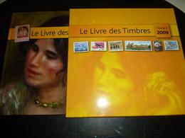 LE LIVRE DES TIMBRES 2009 FRANCE PHILATELIE UNE RETROSPECTIVE AUTOUR DU TIMBRES SUR LA CULTURE L'ARTS LA BD SANS TIMBRES - France
