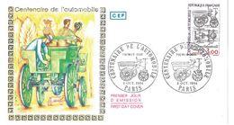 FDC Centenaire De L'automobile (75 Paris 06/10/1984) - FDC