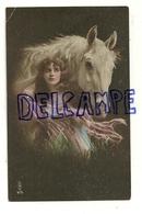 Jeune Femme Et Cheval Blanc. Photographie. LWA V/5. 1920 - Non Classés