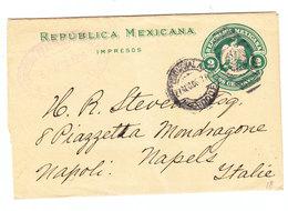Mexico NEWSPAPER WRAPPER SOCIEDAD FILATELICA MEXICANA TO Italy 1906 - Mexico
