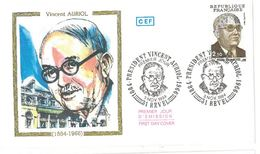 FDC Vincent Auriol (31 Revel 03/11/1984) - FDC