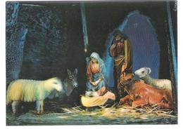 3D Card - Stereo Karte - Lenticulaire - Christmas - Weihnachten - Noel - Krippe - Crib - Nativity - Stereoskopie