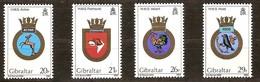 Gibraltar 1984 Yvertn° 489-492 *** MNH  Cote 11,00 Euro Armoiries De Bâtiments Royal Navy - Gibraltar