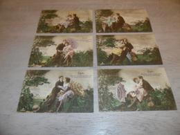 Couple ( 40 )   Koppel   Serie Van 6 Postkaarten - Serie De 6 Cartes Postales - Couples