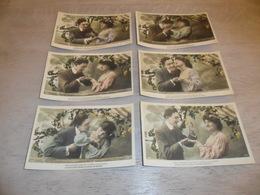 Couple ( 41 )   Koppel   Serie Van 6 Postkaarten - Serie De 6 Cartes Postales - Couples