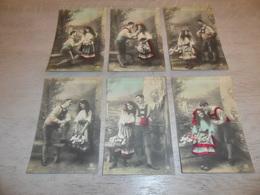 Couple ( 43 )   Koppel   Serie Van 6 Postkaarten - Serie De 6 Cartes Postales - Couples