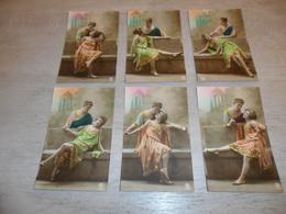 Couple ( 44 )   Koppel   Serie Van 6 Postkaarten - Serie De 6 Cartes Postales - Couples