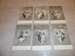 Couple ( 46 )   Koppel   Serie Van 6 Postkaarten - Serie De 6 Cartes Postales - Genre Viennoise - Couples