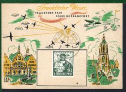 CARTE D'ALLEMAGNE - FOIRE DE FRANCFORT - MESSE FRANKFURT - 1950 - MICHEL 103 - [7] Repubblica Federale