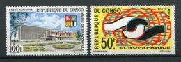 9859  CONGO PA 26,27 ** 100F Mairie De Brazzaville, 50F 2é Anniversaire De L'Europafrique 1965  TTB - Nuovi