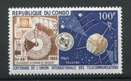 9860  CONGO PA 28 ** 100F Centenaire De L'Union Internationale Des Télécommunications  1965  TTB - Nuovi