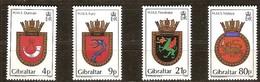 Gibraltar 1985 Yvertn° 501-504 *** MNH  Cote 11,00 Euro Armoiries De Bâtiments Royal Navy - Gibraltar