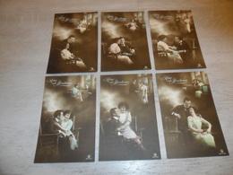 Couple ( 48 )   Koppel   Serie Van 6 Postkaarten - Serie De 6 Cartes Postales - Rêve  Surrealisme - Couples