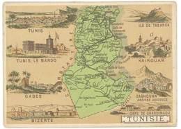 Chromo Cafés En Grains Trébucien : Tunisie ( Le Bardo, Bizerte, ... ) - Thé & Café