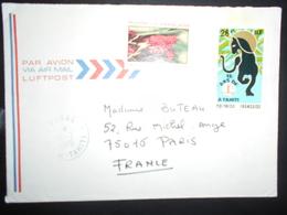 Polynesie Française Lettre De Pirea 1976 Pour Paris - Polynésie Française