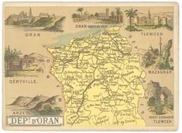 Chromo Cafés En Grains Trébucien : Algérie , Département D'Oran ( Tlemcen, Géryville, .. ) - Thé & Café