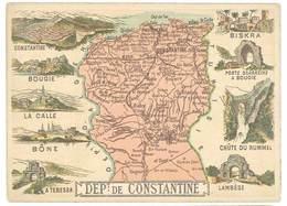 Chromo Cafés En Grains Trébucien : Algérie , Département De Constantine ( Biskra, La Calle, Bône, ...) - Thé & Café