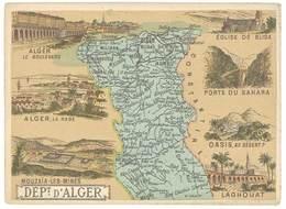 Chromo Cafés En Grains Trébucien : Algérie , Département D' Alger - Thé & Café