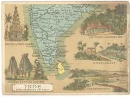Chromo Cafés En Grains Trébucien : Inde ( Pondichéry ) - Thé & Café