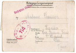 Allemagne-1941--Lettre Censurée Stalag I B-114--Lager-Bezeichnung Pour Lignieres (France)-Prisonnier De Guerre-- Cachets - Militaria