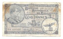 Belgium 5 Francs 23.04.38 - [ 2] 1831-... : Royaume De Belgique