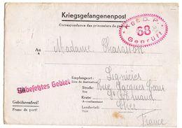 Allemagne-1941--Lettre Censurée Stalag I B-68--Lager-Bezeichnung Pour Lignieres (France)-Prisonnier De Guerre-- Cachets - Militaria