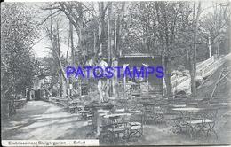 104106 GERMANY ERFURT ETABLISSEMENT STEIGER GARDEN BREAK CIRCULATED TO FRANCE POSTCARD - Deutschland