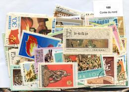 100 Timbres Thème Corée Du Nord - Corée Du Nord