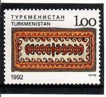 Turkmenistan.1992 Folk Art (Carpet). 1v: 1.00 Michel Nr. 12 - Turkménistan