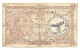 Belgium 20 Francs 01.03.40 - [ 2] 1831-... : Royaume De Belgique