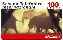 Italy Telecom Internazionali - 6053 - Elefanti (Elephants) NMB - GSM-Kaarten, Aanvulling & Voorafbetaald