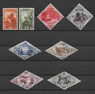TOUVA - 1934 - SERIE COMPLETE YVERT N° 39/46 OBLITERES - COTE YVERT = 28 EUR. - Touva