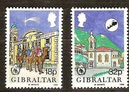 Gibraltar 1986 Yvertn° 526-527 *** MNH  Cote 4,00 Euro Noël Kerstmis Christmas - Gibraltar