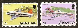 Gibraltar 1986 Yvertn° 528-529 *** MNH  Cote 5,50 Euro Avions Vliegtuigen Airplanes - Gibraltar